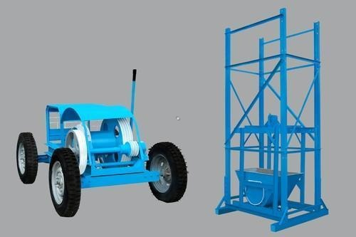 Tower Hoist with Four Pole Channel Frame