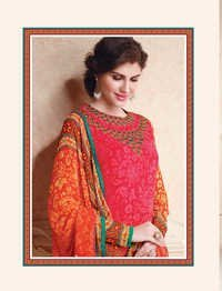 Multicolored Georgette Untitched Salwar Suit