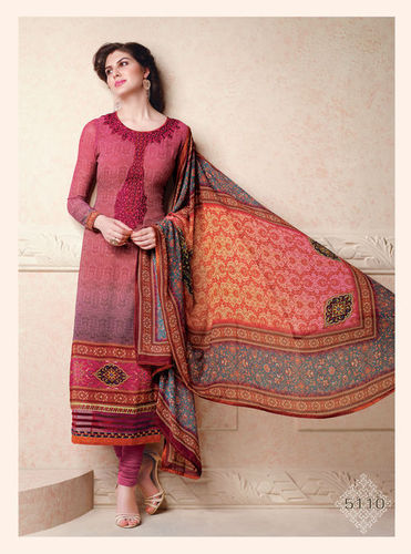 Georgette Multicolored Salwar Suit with Chiffon Dupatta