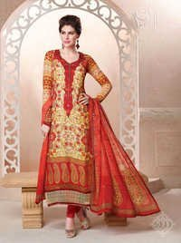 Multicolored Georgette Partywear Salwar Suit