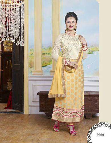 Buy new georgette Embroidery Stright salwar kameez