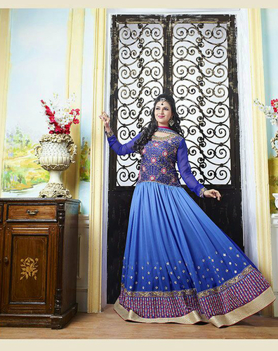 Stylish New Georgette Embroidery Salwaar Kameez