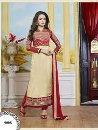 Buy new double color georgette embroidery salwar kameez