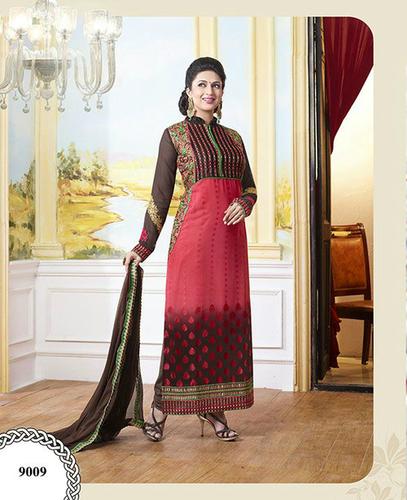 Buy new double color georgette unstitched salwar kameez