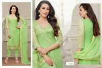 DESIGNER PARROT STRAIGHT PLAZO SUIT