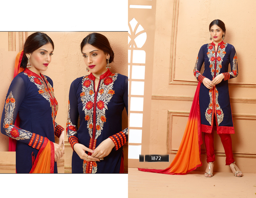 NEVY BLUE AND RED STRAIGHT SUIT