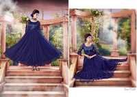 NEVY BLUE ANARKALI SUITS