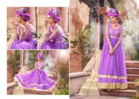 PURPLE & CREAM ANARKALI SUITS