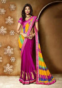 PURPLE SHADED SAREE