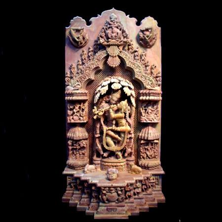Radha Krishna Statue Under Tree