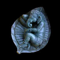Ganesh Sleeping On Leaf