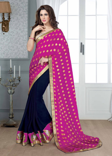 BLUE & RANI DESIGNER SAREE