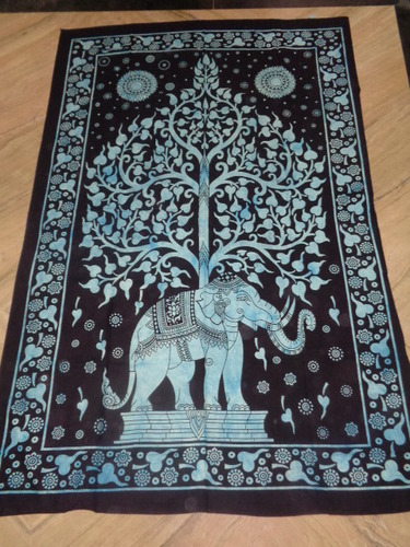 PRINTED ELEPHANT TAPESTRY FROM INDIA