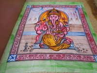 HAND PAINTED INDIAN GODS PRINTS TAPESTRY FROM INDIA
