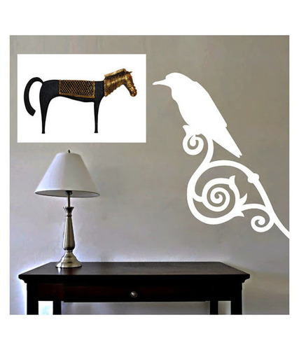 Wood & Brass Horse Frame