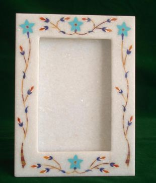 Square Design Marble Handicraft Photo Frame