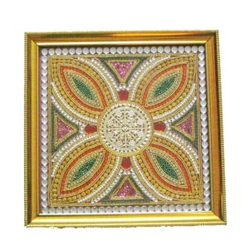 Flower Design Wood Baajot Pooja Chowki