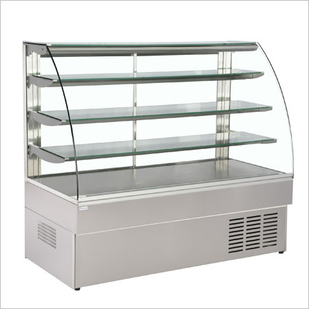 Curve Glass Sweet Counter, 3-self Satic Cooling
