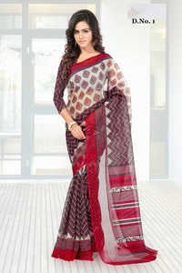 Multicolored Rajjo Silk Partywear Saree.