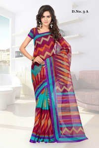 Rajjo Silk Printed Saree with Blouse Piece