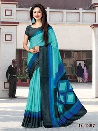 Printed uniform saree