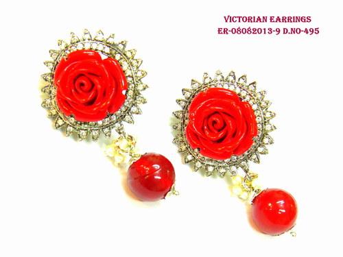 Victorian Read Rose Earring