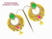 Exclusive Victorian Ruby Green Earring
