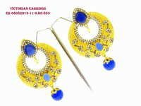 Exclusive Victorian Bule stone Earring