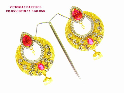Exclusive Victorian Yellow Drope Earring