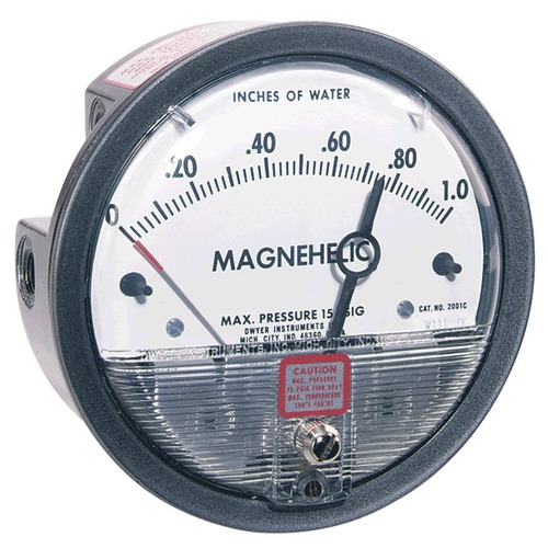 Dwyer Differential Pressure Gauge 0 to 250 mm