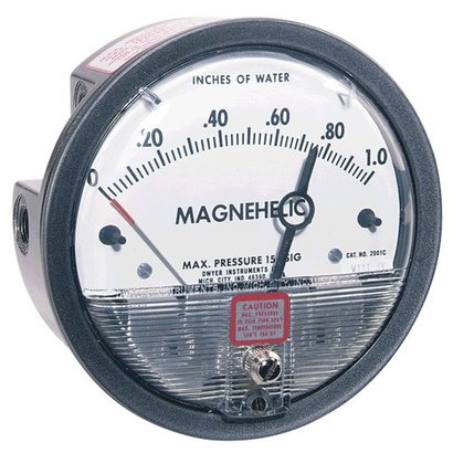 Dwyer Differential Pressure Gauge 0 To 60 Pa Accuracy: 2  %