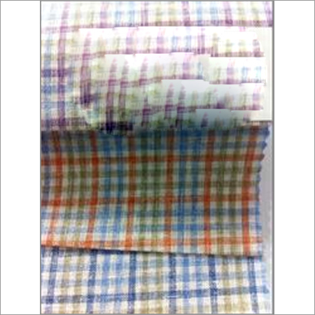 Linen Chex Shirting Fabrics