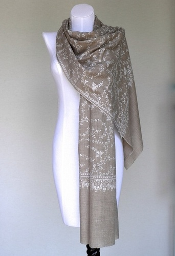Embroidered Pashmina Wool Shawl