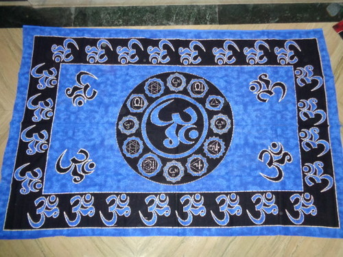 OM PEACE YING YANG PRINTED TAPESTRY