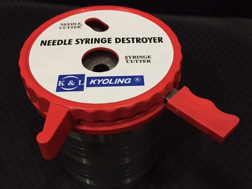 Syringe And Needle Destroyer- Stainless Steel