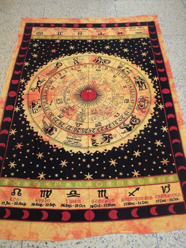 ZODIAC PRINTED TAPESTRY FROM INDIA