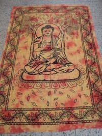 BUDDHA PRINTED TAPESTRY FROM INDIA
