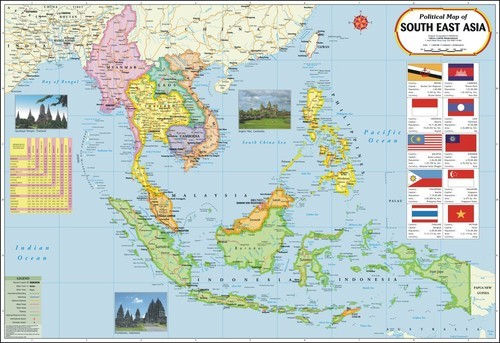 Political Map South East Asia.Political Map Of South East Asia Manufacturer Political Map Of
