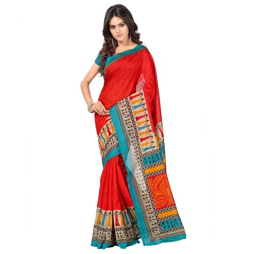 Stylish new ghicha silk printed saree