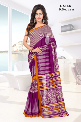 Multicolored New ghicha silk printed saree
