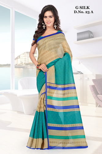 Modish new Green silk printed saree