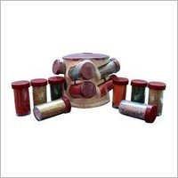 Wooden Spice Jars