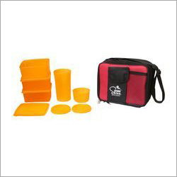 Yellow Color Glass Lunch Box Set