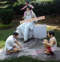 Punjabi Village Fiber Statues Theem