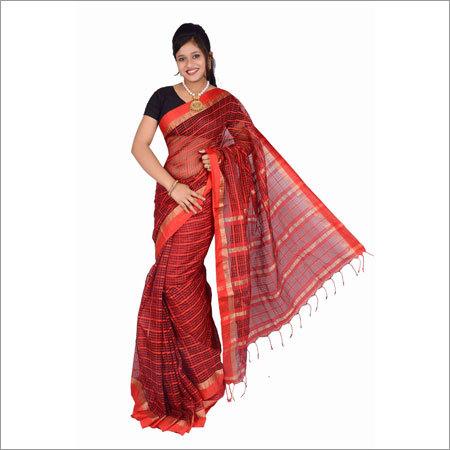 Woven Pattern Handloom Net Saree