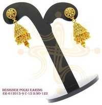Designer Polki Earring and Jhumka