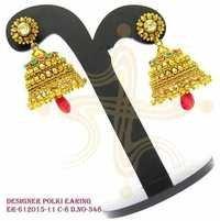 Polki earring, designer polki earring , designer polki jhumka