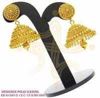 Polki earring, designer polki earring , designer pecock earring