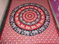 MULTI COLOURS ELEPHANT ROUND MANDALA TAPESTRY
