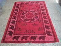 AFRICAN ELEPHANT PRINTED TAPESTRY